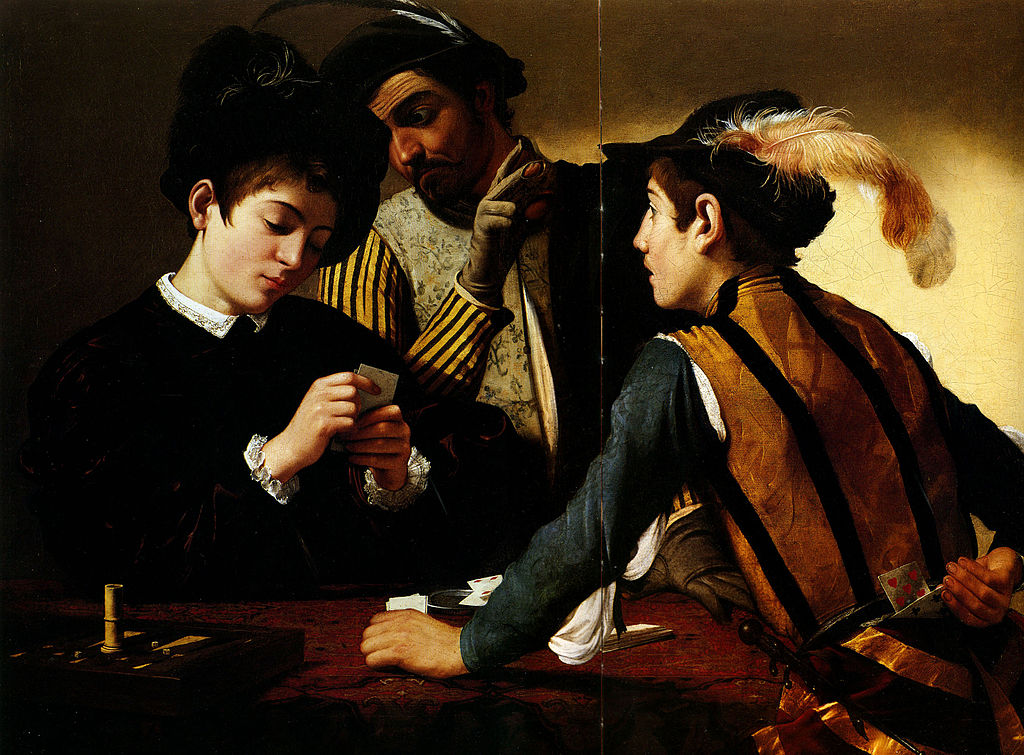 Caravaggio, Grający w karty