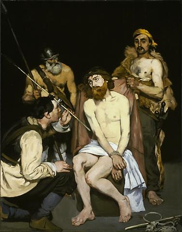 Naigrywania się z Chrystusa, obraz zaprezentowany razem z Olimpią