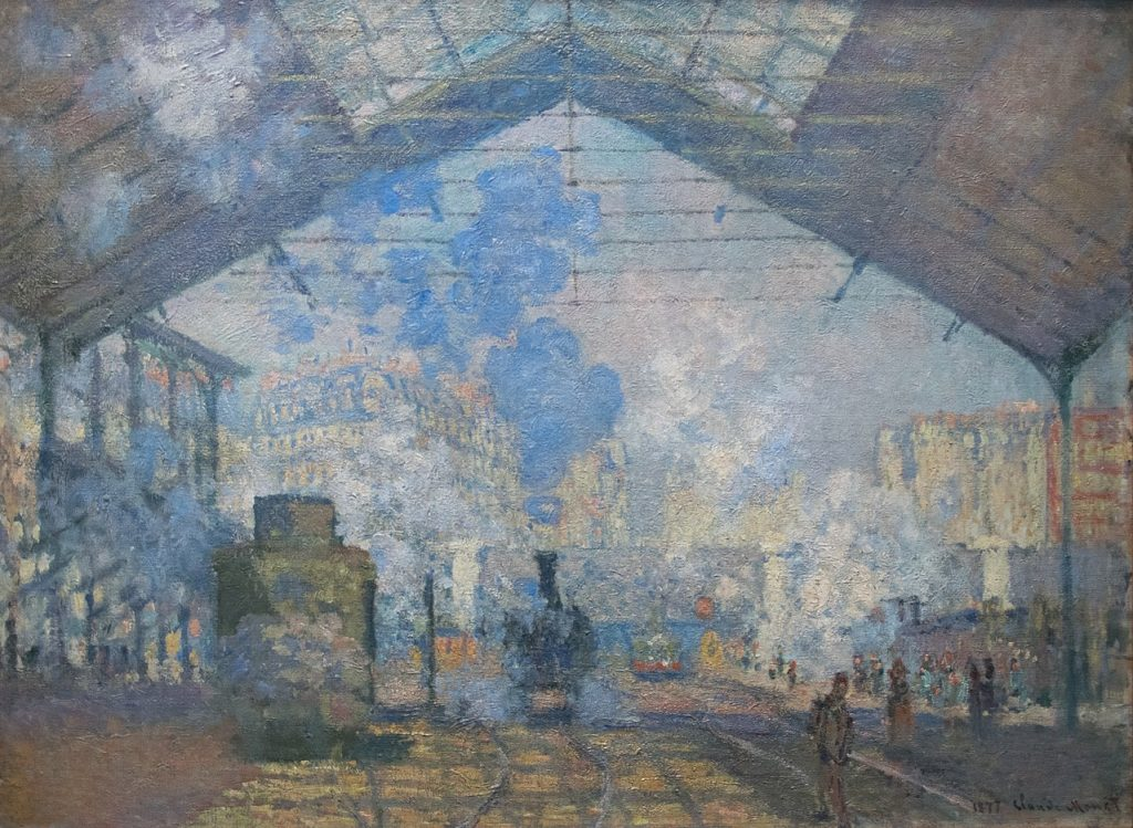 Claude Monet, dworzec saint lazaire