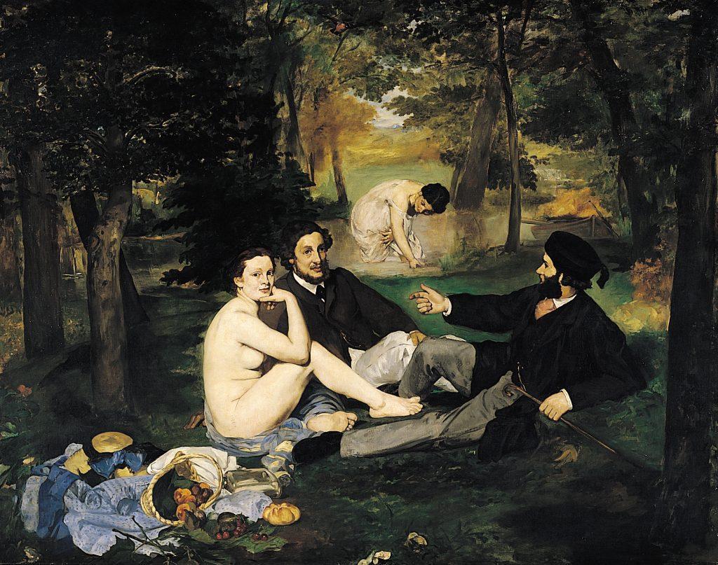 Manet, Śniadanie na Trawie, niedługo później namalował Olimpię